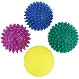 BB Sport balles de Massages Paquet de 4 balles Pointues de différentes Tailles et Niveaux de dureté