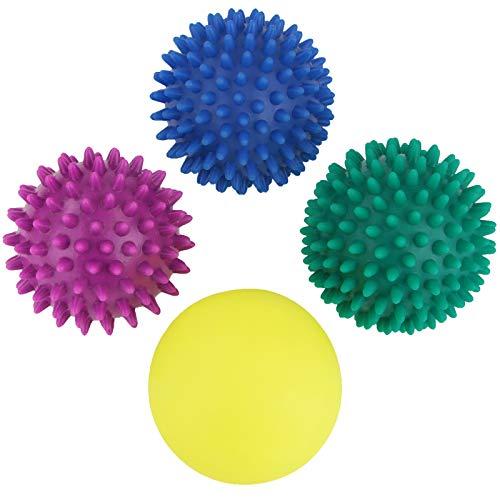 bb sport pallina massaggio confezione da 4 pezzi palline a riccio di diverse dimensioni e livelli di durezza