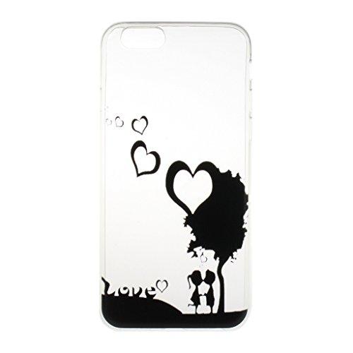 iPhone 5 Hülle, iPhone 5S Hülle, iPhone SE Hülle [Mit gehärtetem Glas-Bildschirmschutz], Grandoin (TM) modische flexible schöne Zeichnung aufgedruckte Muster-stoßabfangende-Gehäuse-Hülle, ausgezeichneter weicher Qualitäts-Silikon-Gummi Extra ultra dünnes buntes TPU Design-schützende Rückseiten-Abdeckungs-Hülle Ideal passend für iPhone 5/5S/SE