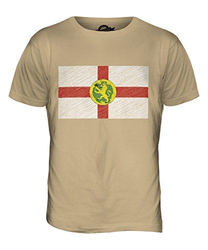 CandyMix Alderney Kritzelte Flagge Herren T Shirt Sand