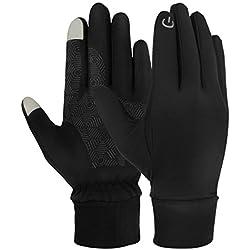 SHABEI Gants Sport à écran Tactile,Touch Screen Gloves Homme/Femme Gants antidérapants Étanche au Vent Gants Chauds pour Cyclisme, Conduite, Fitness, Ski, Escalade