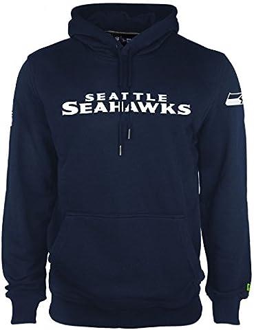 New Era Men Overwear / Hoodie Team App Seattle Seahawks blue S