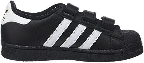adidas Superstar Foundation, Baskets Basses Mixte Enfant, 12.5 UK Noir (Core Black/footwear White/Core Black)
