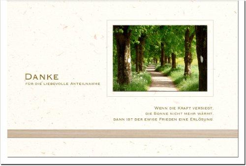 metalum Premium-Danksagungskarten mit stilvollem Motiv aus hochwertigem Karton im 10er Set