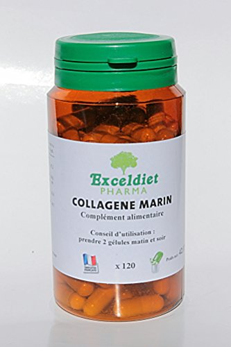 COMPLEXE ANTI- AGE - DIMINUTION DES RIDES ET REGENERATION DES TISSUS- COLLAGENE MARIN + VITAMINE C + SELENIUM - 120 gélules à la Chlorophylle- Exceldiet Pharma