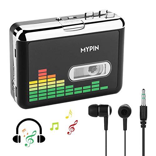 Tragbare Kassettenspieler, Digital USB Audio Musik/Kassette zu MP3 Konverter, Kassettenrekorder direkt auf USB-Flash-Laufwerk speichern/Kein PC erforderlich