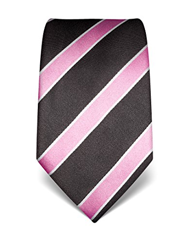 vb-mens-silk-tie-striped-many-colours-availableanthracite