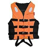 Hihey Giubbotto salvagente Giubbotto salvavita Galleggiante Impermeabile di Sicurezza Regolabile da Esterno Impermeabile con Cintura per Fischietto per Nuoto (Arancione/S)