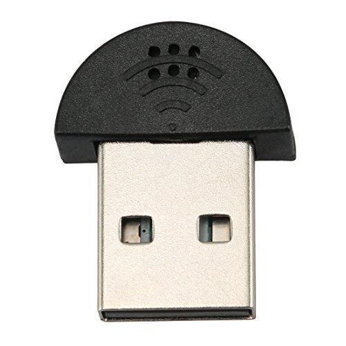 Mini Mikrofon USB Stecker für PC Laptop Studio Sprachaufnahme für Skype MSN Video Schwarz USB 2.0Wireless MIC