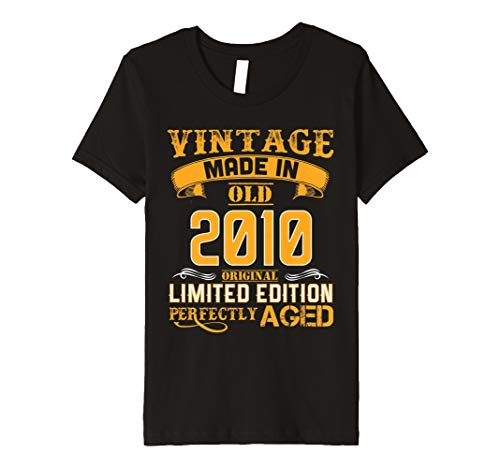 Youth Made In 2010 Vintage 8th Years Old Birthday Shirt Gift