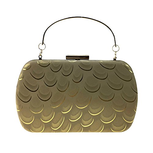 Frau Handtasche ist Pfau Frau Pu Leder Handtasche einfache quadratische Hartbox Kette Tasche Golden