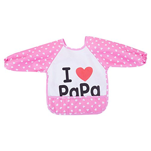 TOOGOO Lovey Cartoon Infant Toddler Baby Impermeable con mangas Bib De