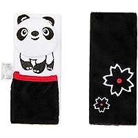 Newin Star Almohadillas para Cinturón de Seguridad,Protector de cinturón,Cinturón de Seguridad Cojín de Coche,Ajustable Protectores para la Cabeza para bebé (panda)