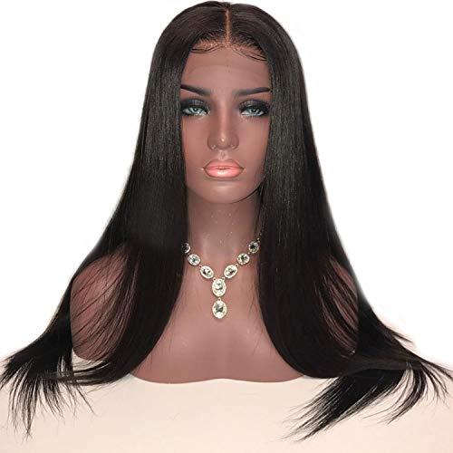 Seidige gerade Spitze-Front-Menschenhaar-Perücken mit Baby-Haar-natürliche Haarlinie Gebleichtes Haar, -