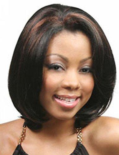 Perruque & xzl Perruques Fashion court synthétique perruque frisée perruques afro-américains pour les femmes noires perruques de cheveux courte bob