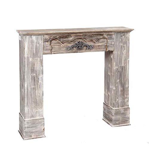 Marco para chimenea falsa de madera envejecida decoración vintage bw15/c002