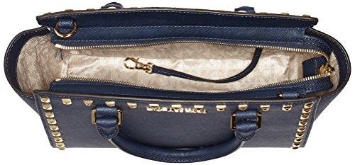 Handtaschen Kors Selma Blau Damen cm Michael 26x16x8 406 Studded Navy wSqTvx4A