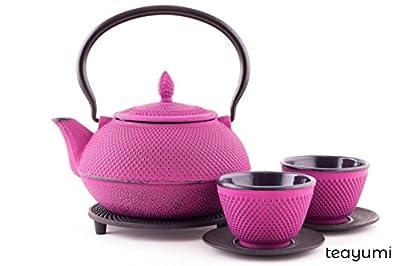 teayumi–Théière en fonte Arare Set 0,9l, violet