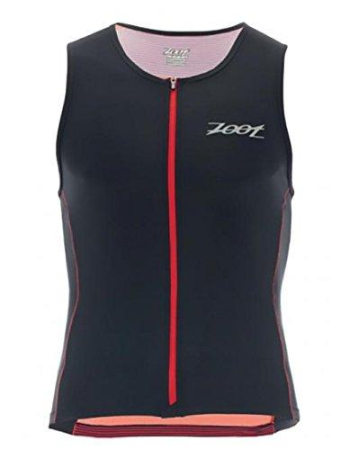 Zoot Herren Triathlon Shirt Performance FZ Tri Tank, Race Day red Stripe, M
