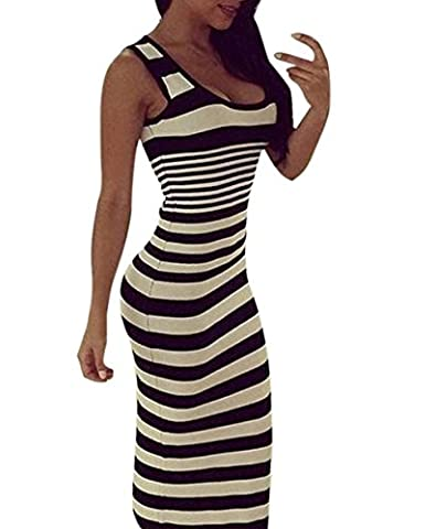 Dresses, Hevoiok Women Fashion Sexy Striped Loose Beach Party Casual