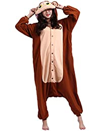 Kigurumi Pijama Animal Entero Unisex para Adultos con Capucha Cosplay Pyjamas Mono Ropa de Dormir Traje