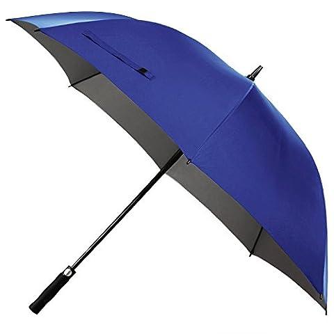 Windproof Umbrella, Pupow 57/60-Inch Golf Umbrella Automatic Open Compact Umbrella Large Rain Umbrella with 8 Fiberglass Ribs (Blue,