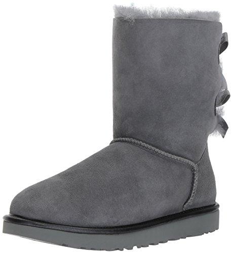 UGG Australia Bailey Bow Ii Metallic Damen Stiefel Grau, Grau, 41 EU