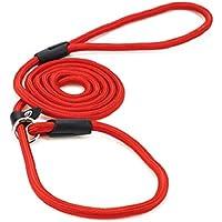 Kentop Correa de Ajustable Cuerda Slip Nylon para Perro Mascota Adiestramiento Pet Dog Leash Size L-1.0cm (Rojo)
