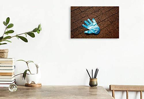 Calvendo Premium Textil-Leinwand 45 cm x 30 cm Quer, Ein Motiv aus Dem Kalender Handschuhe – Verloren – Vergessen | Wandbild, Bild auf Keilrahmen, Fertigbild Leinwand, Leinwanddruck Menschen Menschen - 3