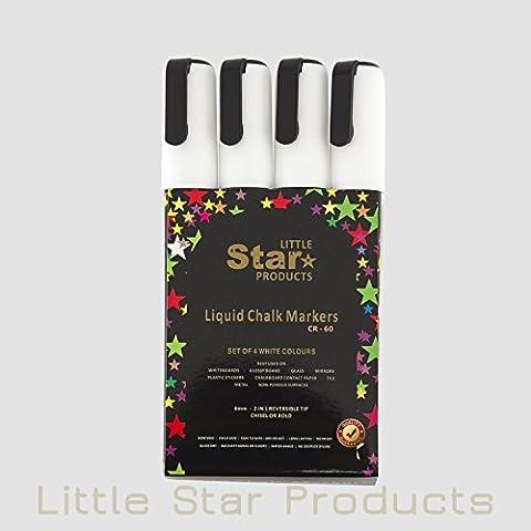 Les Bistrots - Petite étoile brillante White Chalk stylos, des