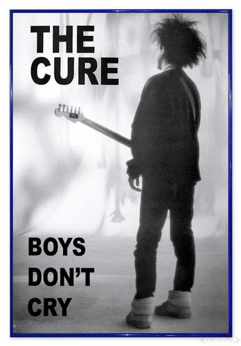The Cure Poster (94x63,5 cm) gerahmt in: Rahmen blau
