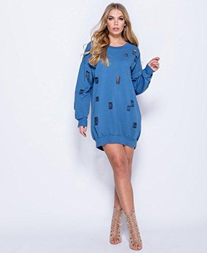 T-shirt à capuche oversize à taille élastique EUR Taille 36-42 Un jean bleu