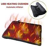 Riscaldamento elettrico Pad, gonfiabile riscaldato l'ammortizzatore di sede, 5V 2A USB cuscini di seduta auto coperture per sedia a rotelle, pesca, animali un aumento della temperatura,Noadjustable
