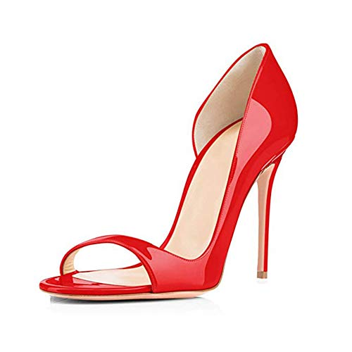 Women es High Heels, 2019 europäischen und amerikanischen Stil offen Zehen lackiert High Heel elegant sexy Solid Solid Damen Sandalen High-zehe