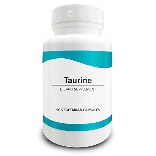 Pure Science Taurin 1000 mg - Taurin Ergänzung verbessert die Herz-Kreislauf-Gesundheit, reguliert den Blutzuckerspiegel und Stimmung - 50 vegetarische Kapseln von Taurin Pulver