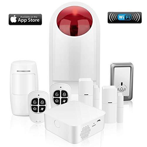 Sistema de Alarma, WiFi Alarmas para Casa, Antirrobo, Inalámbrico, Si