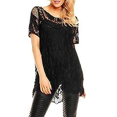 e6d3cf289c1 Zaif   Hari Ladies Italian Lagenlook Knitted Crochet Lace Mes .