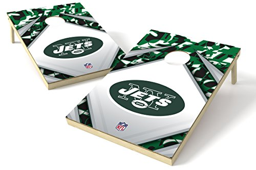 Proline 2'x3' NFL New York Jets Cornhole Set - Millennial Diamond Design - New York Werfen