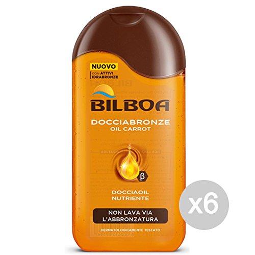 Set 6 BILBOA Doccia Bronze 250 Carrot Oil Cura E Pulizia Del Corpo