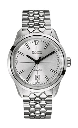 Bulova Unisex Analogue Watch with Gray Dial Analogue Display and Stainless steel plated Metallic - 63B177