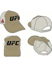 UFC Reebok Mesh Back Tan/White Adjustable Slouch Hat
