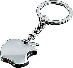 A M ENTERPRISES silver Apple Shaped Key Chain Key Ring
