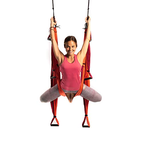 Yoga Trapeze por YOGABODY de Color Naranja, para Colgarse y Aliviar el