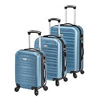 [pro.tec] Luggage Set 3 Pcs Suitcase Set - 3 Different Size ABS-Plastic Suitcase