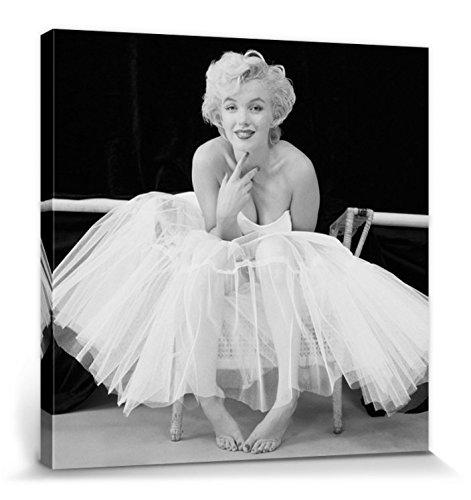 1art1 67156 Marilyn Monroe - Ballerina Poster Leinwandbild Auf Keilrahmen 80 x 80 cm