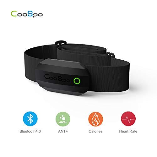 CooSpo Brustgurt Bluetooth & ANT+ mit Herzfrequenzfunktion IP67 Wasserdicht Heart Rate Monitor Chest Strap HRM Sensor für Garmin, RUNTASTIC, Wahoo, Strava (Wahoo Herzfrequenzmonitor)