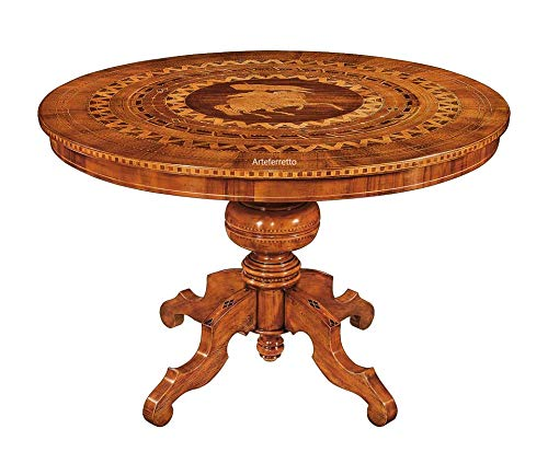 Arteferretto Table Ronde 120 cm marquetée