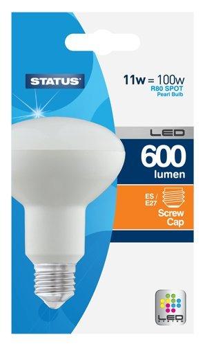 Status-11SLSR80ES1PKB8-E27-11-W-LED-Light-Bulbs-Pearl