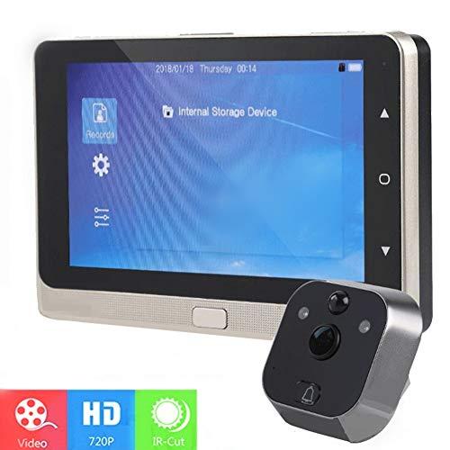 HD Tür Security Peephole Viewer, 5 Zoll LED-Bildschirm Video-Türklingel Zuschauer-Kamera, mit IR-Nachtsicht/Bewegungserkennung/Automatisches Fotografieren / 160 ° Weitwinkelobjektiv Ein Zuschauer