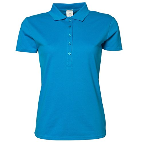 Tee Jays Damen Luxury Stretch Polo-Shirt, Kurzarm Tiefrot